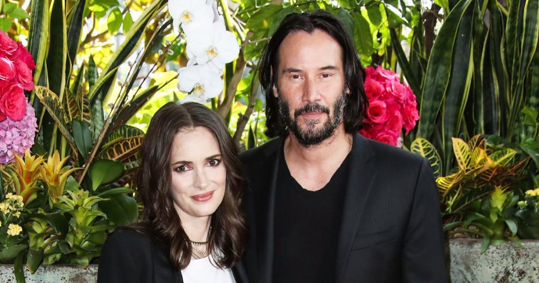 Winona Ryder casada con Keanu Reeves