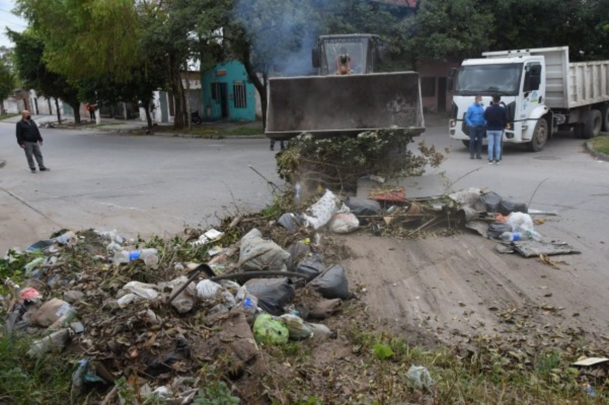 Operativos de limpieza en el norte de la capital
