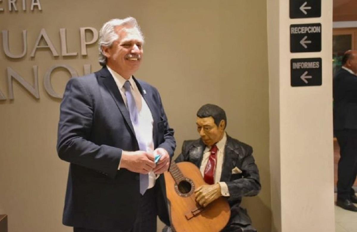 Alberto Fernandez se hospedó en Tafí Viejo.