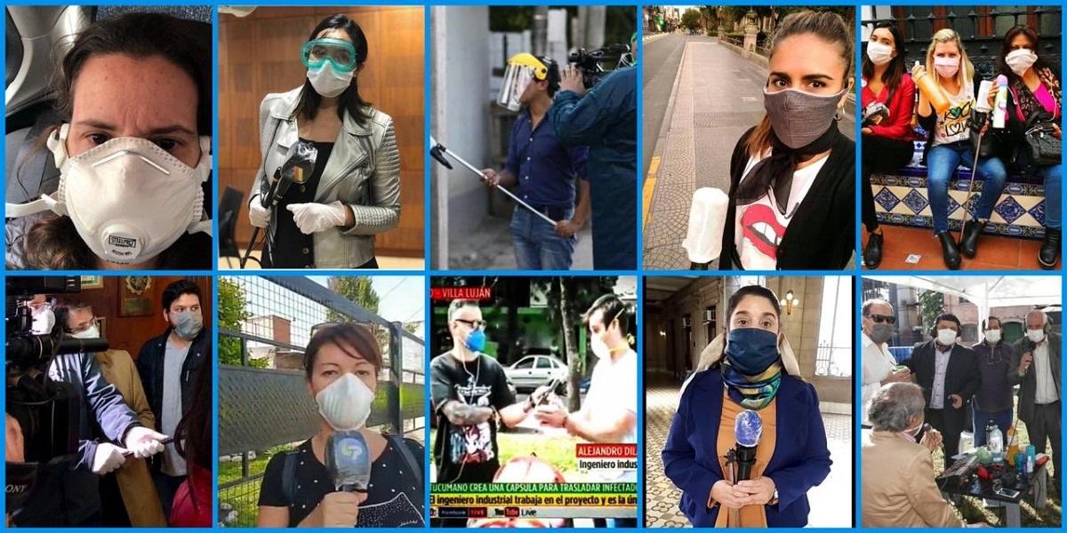 Periodistas tucumanos realizan su labor en plena pandemia.