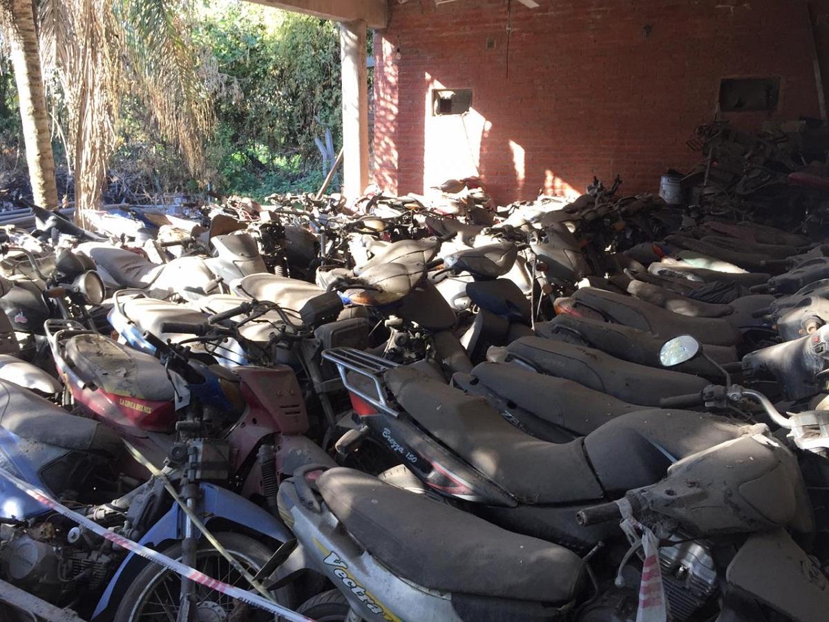 Pasarán a desguace cientos de motos en Yerba Buena.
