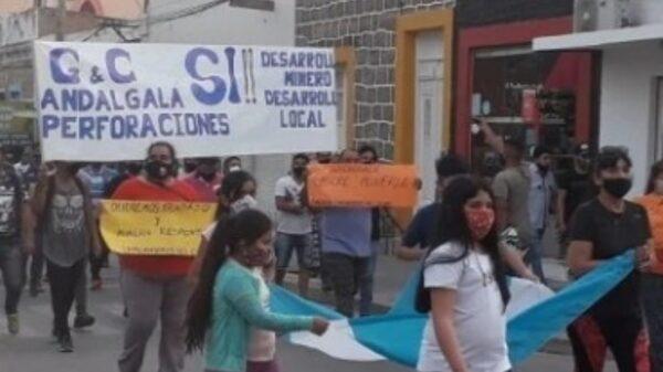 movilización por minera Agua Rica