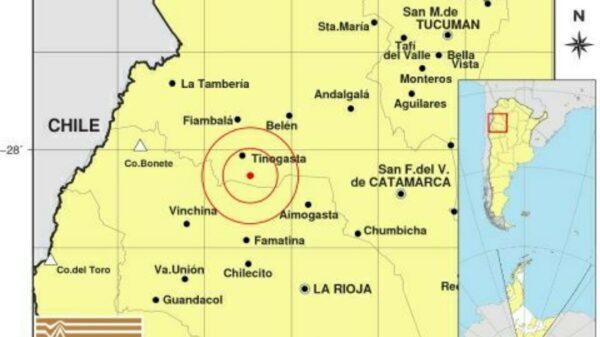 temblor en Catamarca